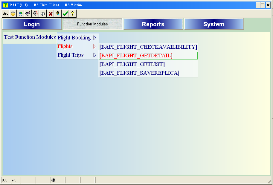 Function Module Screen Shots